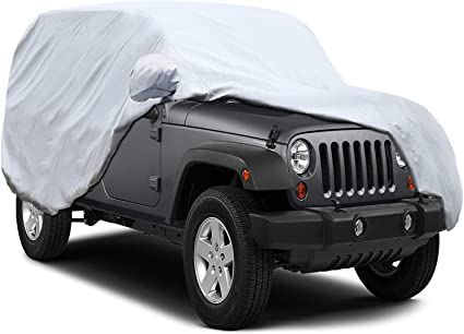 Free Windproof Ribbon /& Anti-Theft Lock Fits 170 KAKIT 2 Layers Car Cover Windproof Dustproof Water Resistant Summer Outdoor UV Protection SUV Cover for car