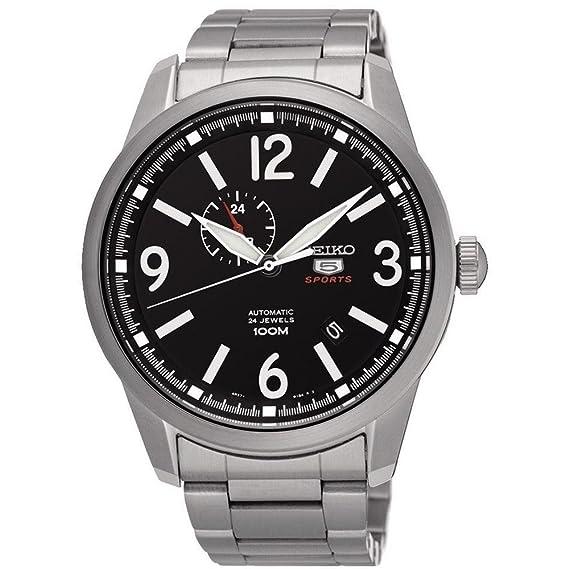 Reloj SEIKO Seiko 5 SSA293K1 Hombre Plateado Acero Calendario: Amazon.es: Relojes