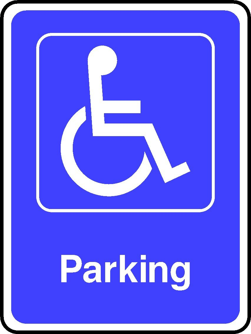 300mmx225mm Disabled Parking (2mm Plastic Sign)