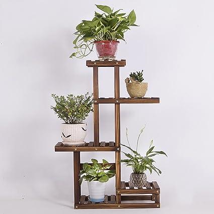 c20f39c90579 estantes para plantas / estanteria jardin Estantes de flores de madera  maciza Plantas de interior anticorrosión Pantalla ...
