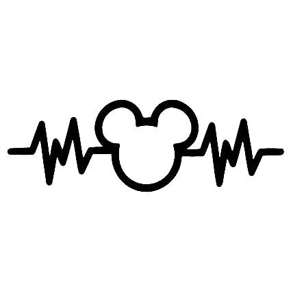 Crawford Graphix Mickey Mouse Heartbeat Car Truck Vinyl Decal Art Wall  Sticker USA Disney Fun Adorable Cute Life (6
