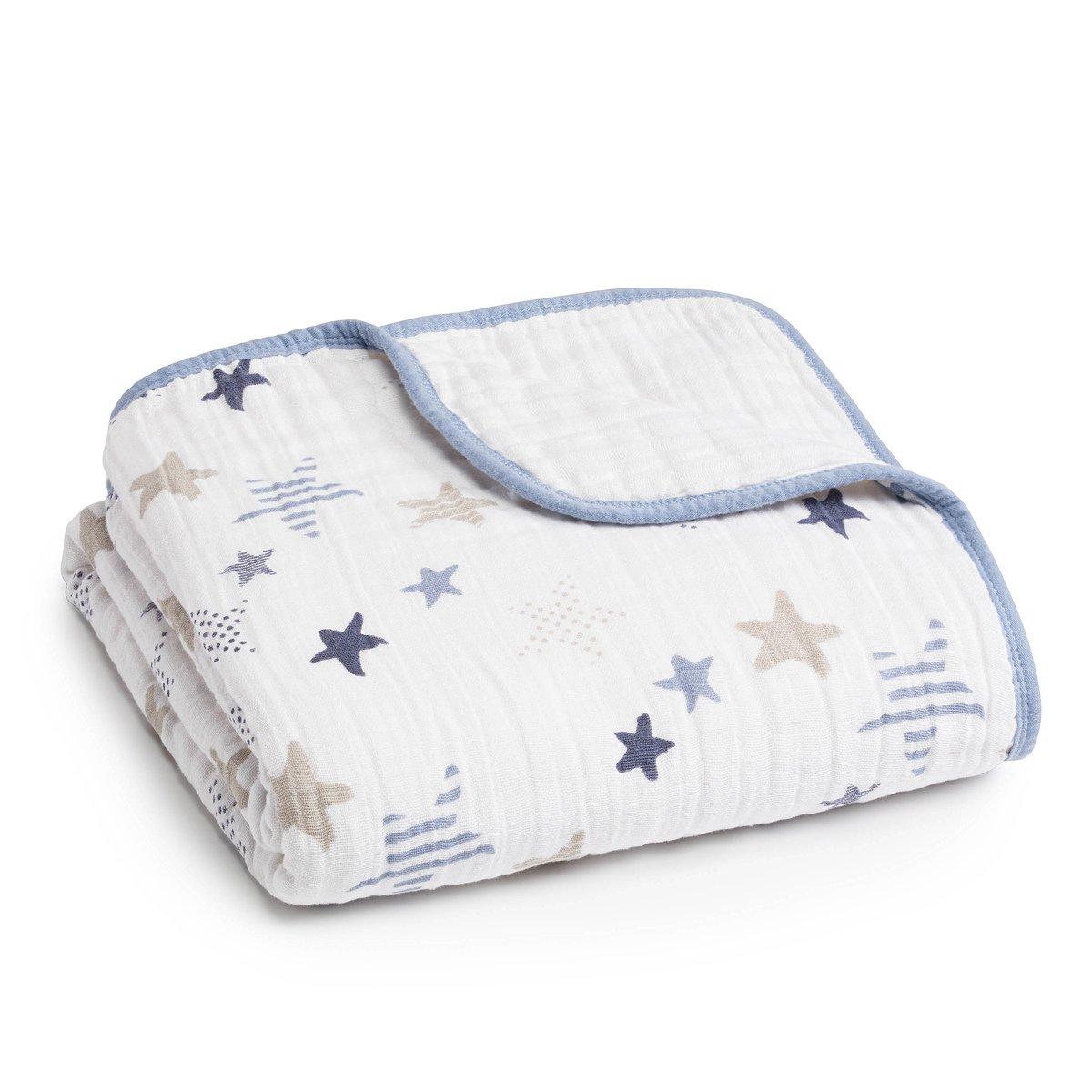 aden + anais Dream Blanket | Boutique Muslin Baby Blankets for Girls & Boys | Ideal Lightweight Newborn Nursery & Crib Blanket | Unisex Toddler & Infant Bedding, Shower & Registry Gifts, Rock Star by aden + anais