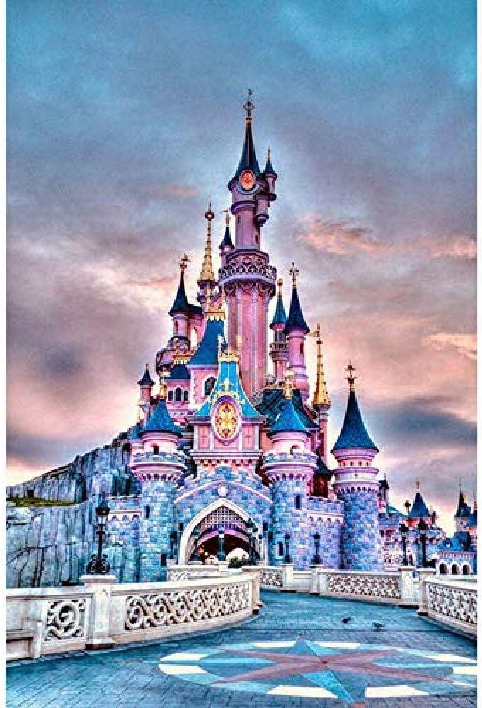 QNJY Adultos Juego Creativo Rompecabezas castillo niños 1000 Piezas Rompecabezas 70x50cm DIY 3D