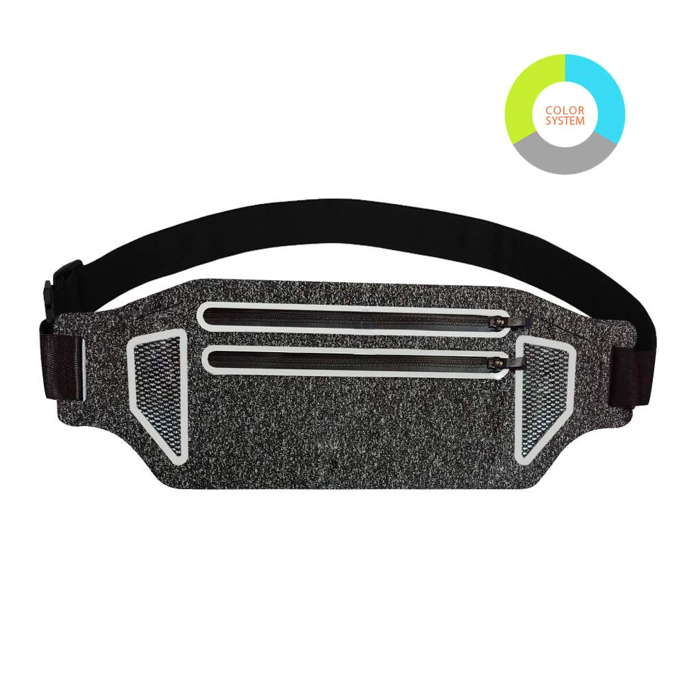 JeBez Running Belt Trail Waist Pack – Fanny Pack, Workout Belt, Waist Pack Belt Pouch for Running, Outdoor Sports, Hiking, Fitness, Fishing, Skiing, Travelling, Walking Dogs