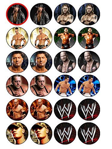 24 x WWE (#2) Edible Cupcake Toppers