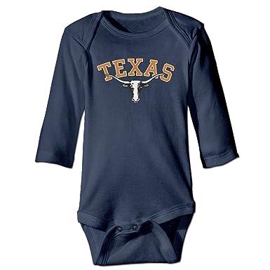 36104368d Kids Baby Ncaa Texas Longhorns UT UT-Austin Teams Logo Romper Jumpsuit Navy  - Blue -: Amazon.co.uk: Clothing