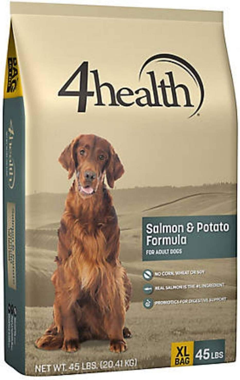 4health Salmon & Potato Formula Adult Dog Food | Modulate The Immune System of Canines, 45 Lb