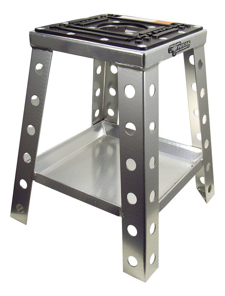 Pit Posse Universal Motorcycle Bike Stand Silver by Pit Posse