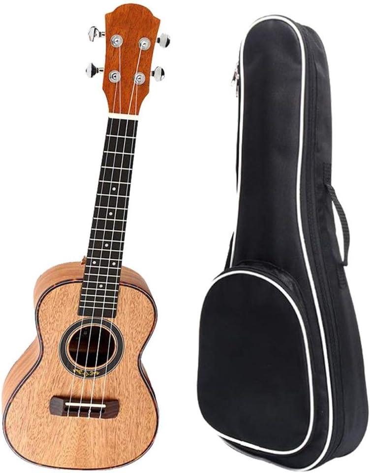 ウクレレ マホガニーウッド23インチコンサートウクレレプロウケハワイキッズギター用ギグバッグ用キッズ学生初心者楽器楽器ギフト絶妙なフレーム (色 : Wood, サイズ : 23 inches)
