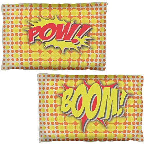 Old Glory Boom POW Comic Book Super Hero Pillow Case Set ()