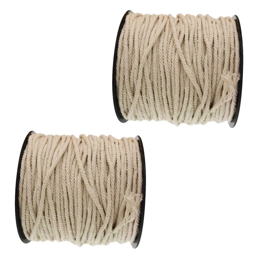 5mm Cotton Twisted Cord Rope Craft Macrame Artisan String Popular Set New UK
