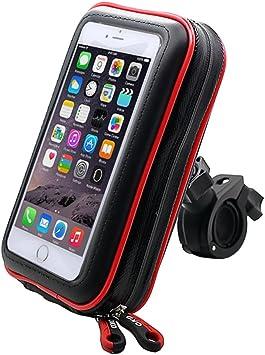 ICOOM Soporte para Smartphone Impermeable Universal V2 de Montaje del Manillar de la Motocicleta, Bicicleta, Bici, Ciclo Estuche estanco al Agua por GPS, Apple, Android, Smartphone (XL): Amazon.es: Electrónica