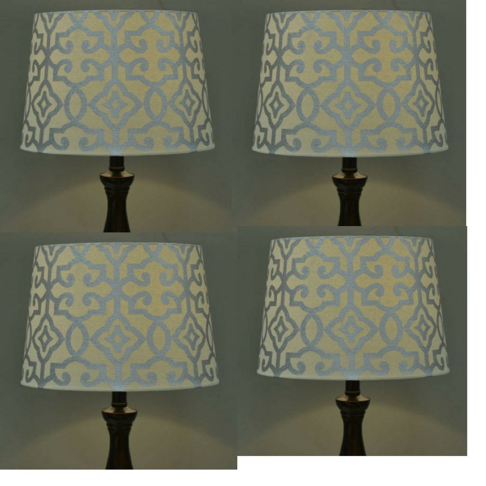 Amazon lamp shades tools home improvement - Better Homes And Gardens Irongate Lamp Shade Multi Color Blue Fire Amazon Com