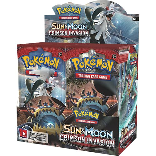 - Pokemon TCG: Sun & Moon Crimson Invasion Sealed Booster Box