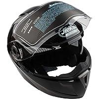 Casco con doble lente para motocicleta, visera integral