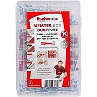 Fischer MEISTER-BOX DUOPOWER + Schroef, Gereedschapskist met 160 Pluggen en Schroeven, Universele Pluggen, Praktische…