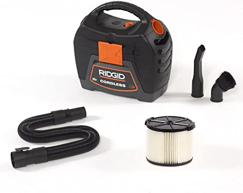 RIDGID 3 gal. 18V Cordless Handheld Wet Dry Vac with 1-7 8 Extension Wand Accessory for Select RIDGID Wet Dry Vacs WD0319-VT1708