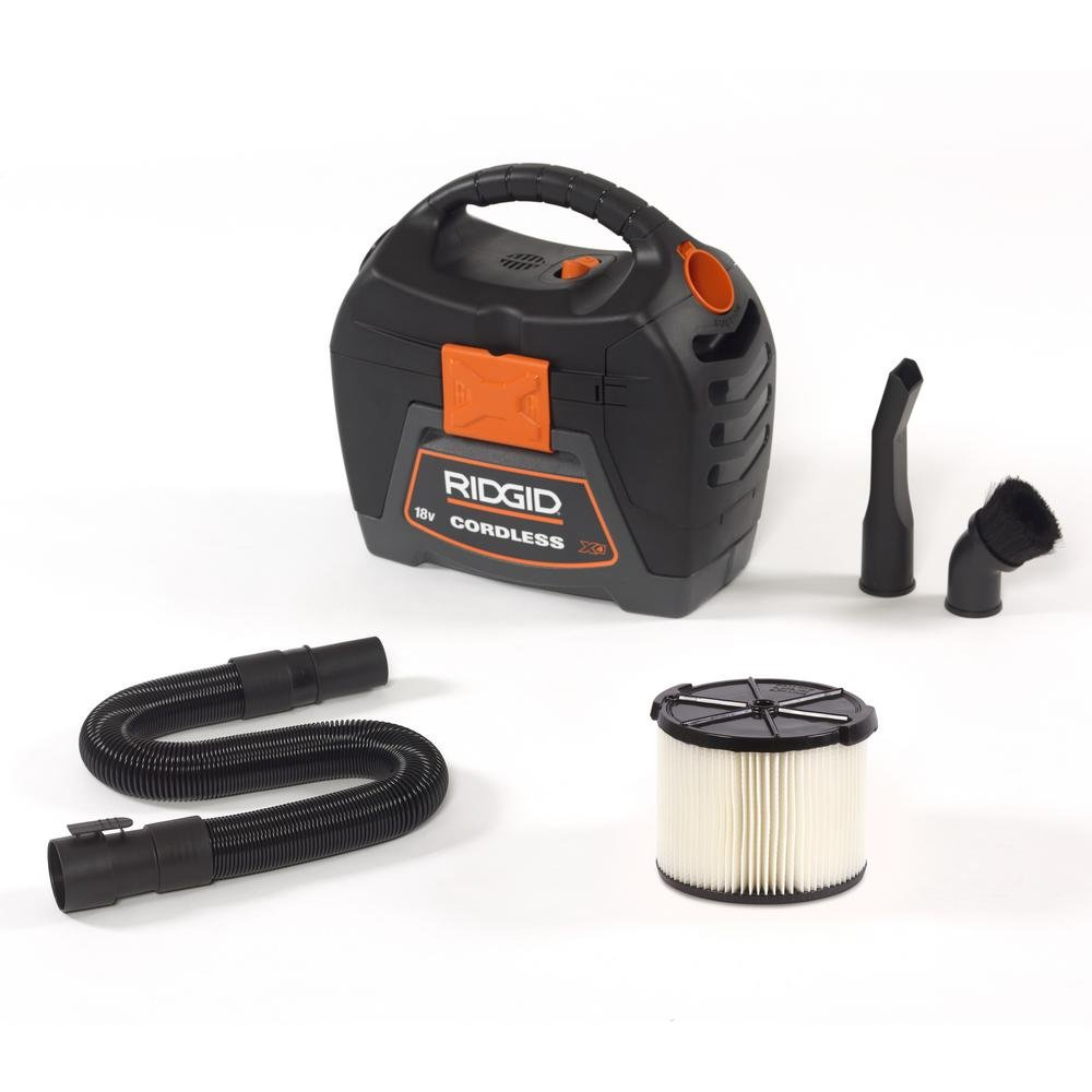 RIDGID 3 gal. 18V Cordless Handheld Wet Dry Vac with 1-7/8 Extension Wand Accessory for Select RIDGID Wet/Dry Vacs WD0319-VT1708 by Ridgid