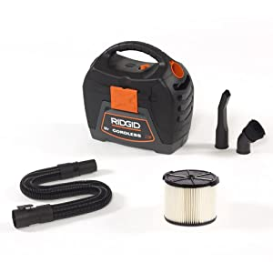 RIDGID 3 gal. 18V Cordless Handheld Wet Dry Vac with 1-7/8 Extension Wand Accessory for Select RIDGID Wet/Dry Vacs WD0319-VT1708