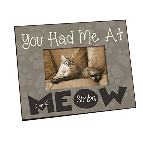 Amazoncom Giftsforyounow Had Me At Meow Personalized Printed Frame