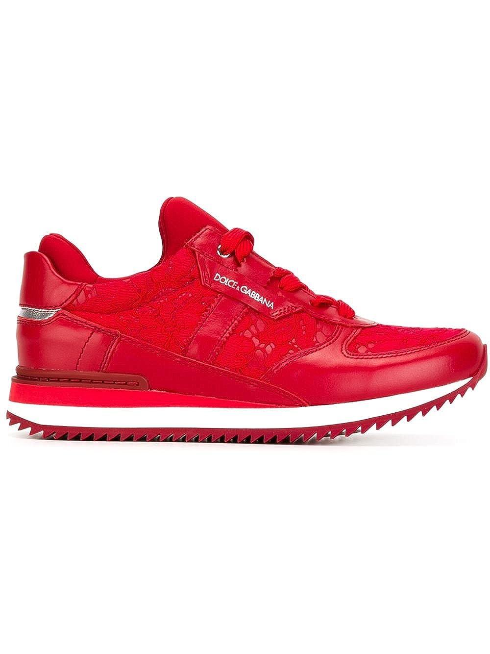 288111cf11903 Amazon.com: Dolce & Gabbana Women's Fashion Sneakers Red: Shoes