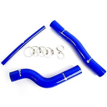 Kit de tubo de silicona manguera de radiador para Hyundai Genesis rohens Coupe 2.0 Turbo, color azul: Amazon.es: Coche y moto