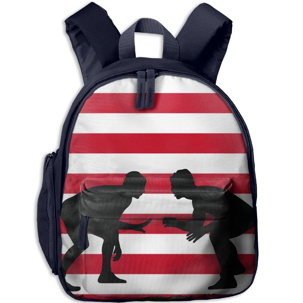 American Flag Wrestling Lightweight Cute Durable Cute Childrens School Bag Best For Toddler by GoodKKBags