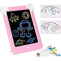 Febelle Tableta de Escritura LCD para niños,Juguete de Tablero Tablero de Escritura de 10 Pulgadas 3D LED Luminoso Magic…