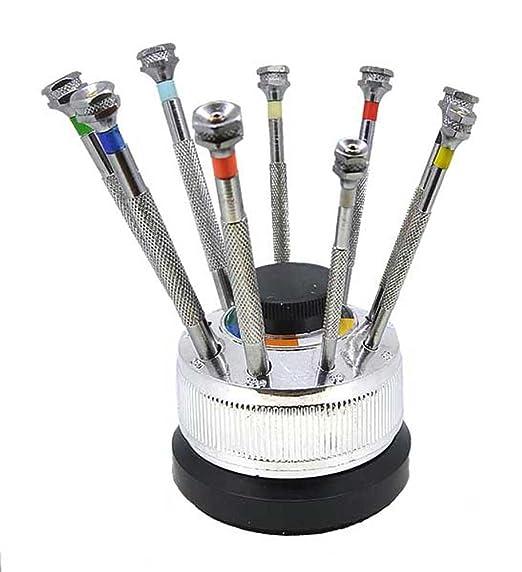 Relojero Destornillador 9 unidades en soporte con puntas intercambiables Top