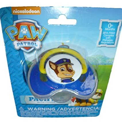 Nickelodeon Paw Patrol Pacifier Joven Bebé Chupete con tapa ...