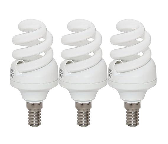 11W 65W Energy Saving Spiral CFL 6500K Day White Colour Light Bulb E14