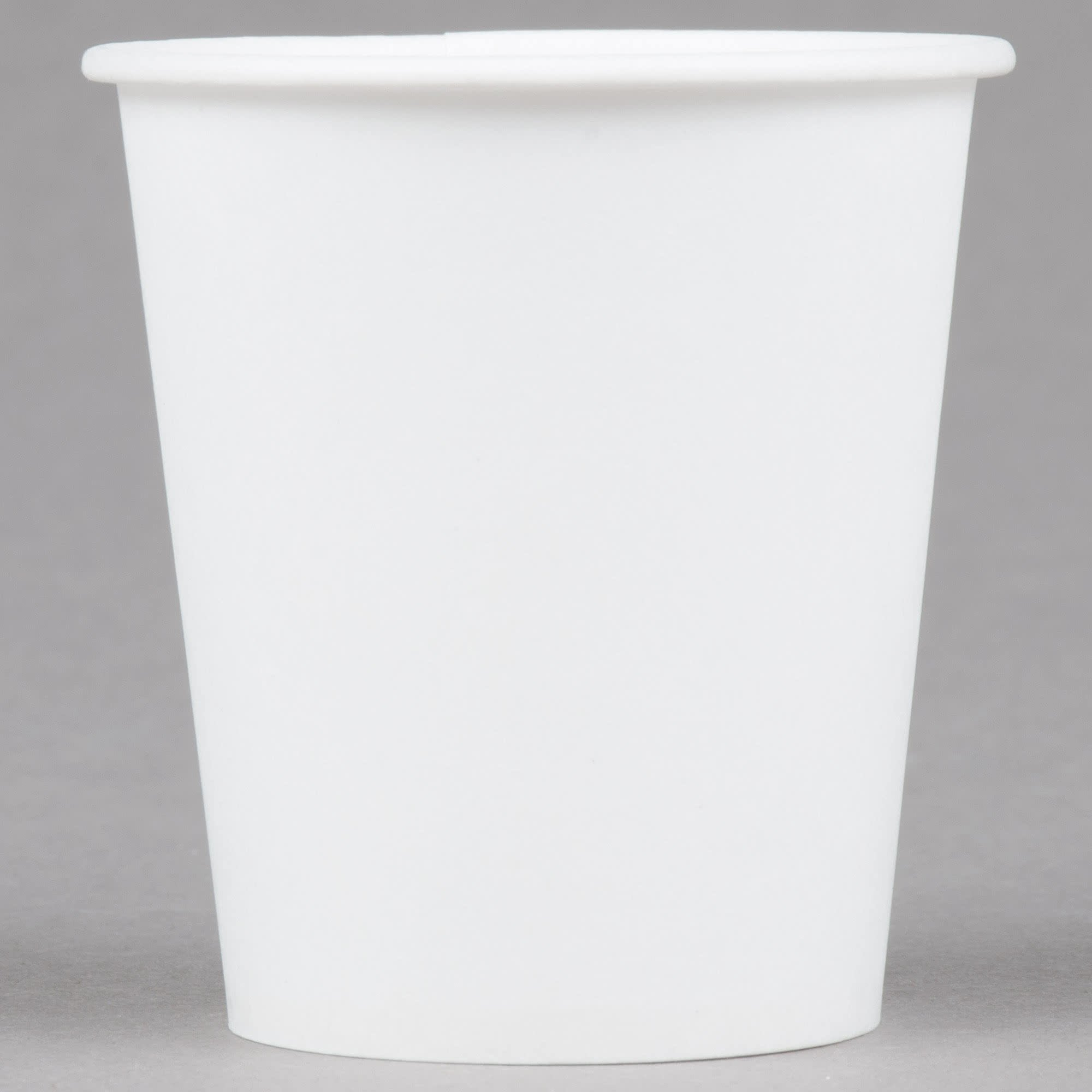 TableTop King 44-2050 Bare Eco-Forward 3 oz. Wax Treated White Paper Cold Cup - 5000/Case