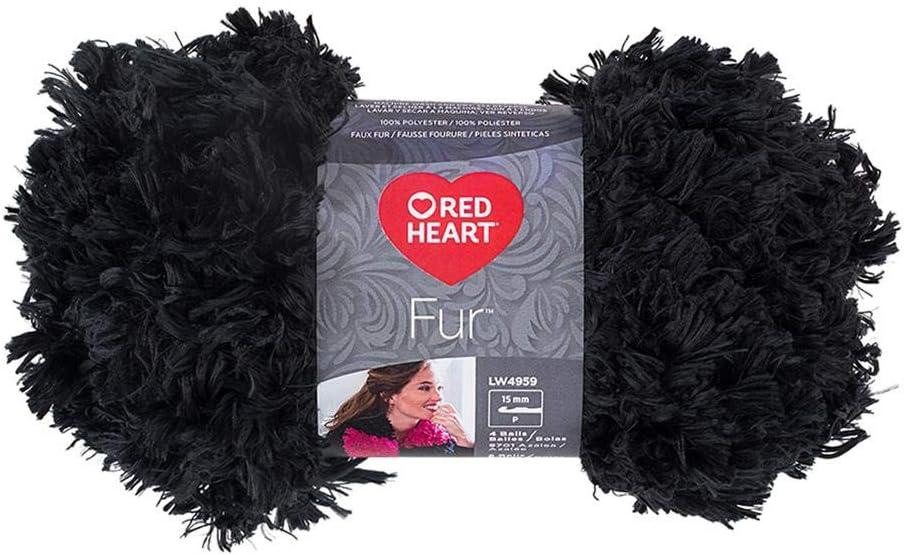 Red Heart E831.0501 Fur Yarn Aqua Blue