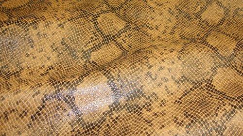 Caramel Python Metallic Embossed Pattern Upholstery Vinyl Fabric Per ()