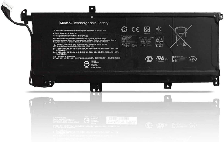 15.4V 55.67Wh 3470mAh MB04XL Replacement Laptop Battery for Battery HP Envy X360 15-AR052SA M6-AQ103DX TPN-W119 TPN-W120 Series Notebook 843538-541 844204-850 HSTNN-LB6X