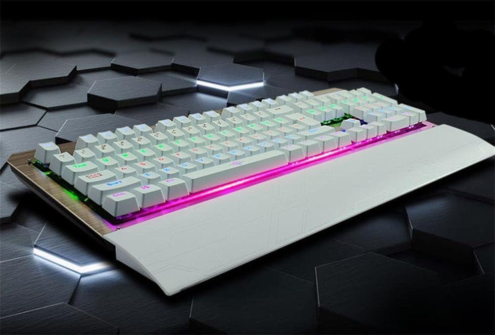 Verde eje mecánico Metal mecánica teclado para juegos USB ...