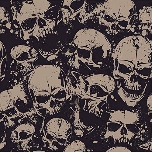 Leowefowa 5X5FT Vinyl Photography Backdrop Halloween Scary Skulls Abstract Wallpaper Costume Party Background Kids Children Adults Photo Studio Props
