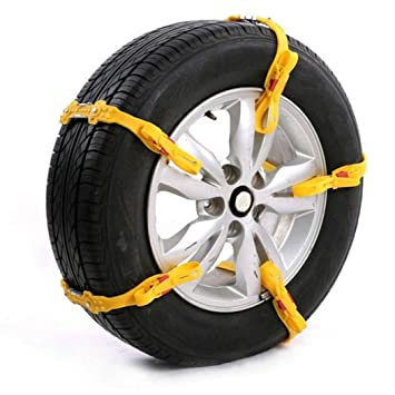 Cadenas de nieve para neumáticos Y56, fácil instalación (4 unidades): Amazon.es: Coche y moto