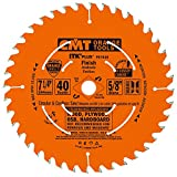 CMT P07040-X10 ITK Plus Finish Saw Blade Masterpack, 7-1/4 x 40 Teeth, 10° ATB+Shear with 5/8-Inch bore - 10-Pack