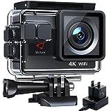 Victure AC800 Cámara Deportiva Wi-Fi 4K Ultra HD 20MP (Action Camera Acuatica de 40M con 2 Baterías y Cargador Externo…