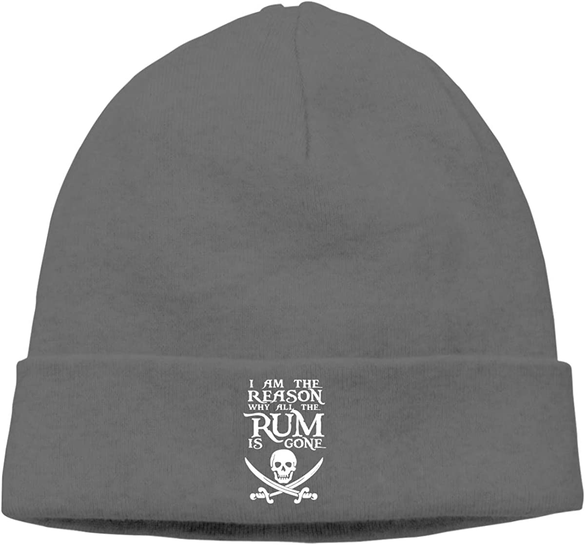 I Am The Reason Why All The Rum is Gone Skull Unisex Knitted Hat Skull Hat Beanie Cap for Mens and Womens