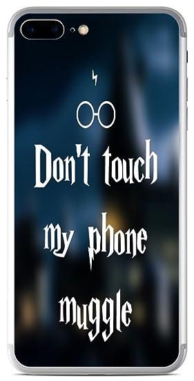 Amazon.com  Funny Don t Touch My Phone Muggle Quote Design Print ... 8da086e72152b