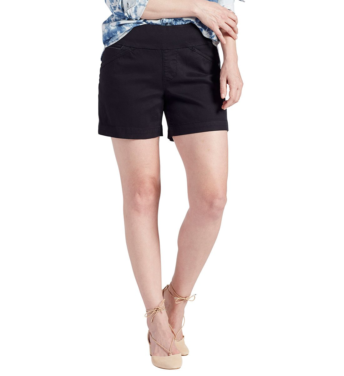 Jag Jeans Women's Ainsley Pull on 5'' Short, Black, 6