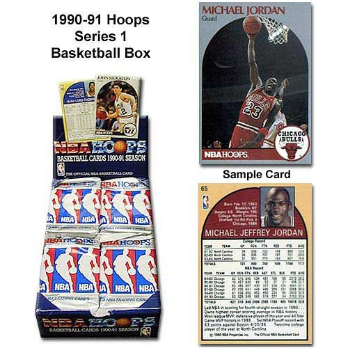 Hoops 1990-91 NBA Series One Unopened Trading Card Box