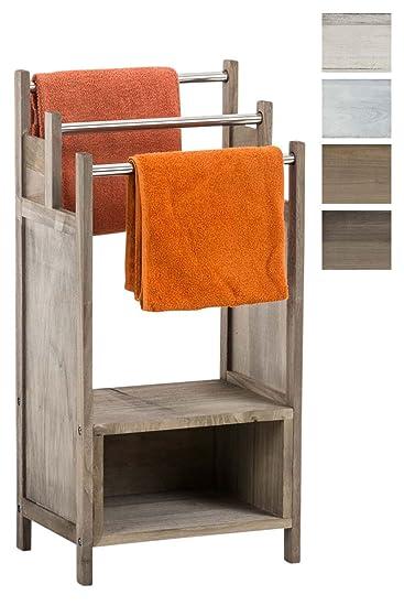Handtücher Landhausstil clp handtuch halter osaka aus blauglocken holz handtuchständer