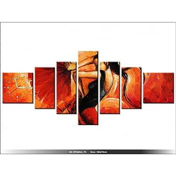 Art Gallery Xxl 160x70cm Flamenco Espagne Rouge Horloge
