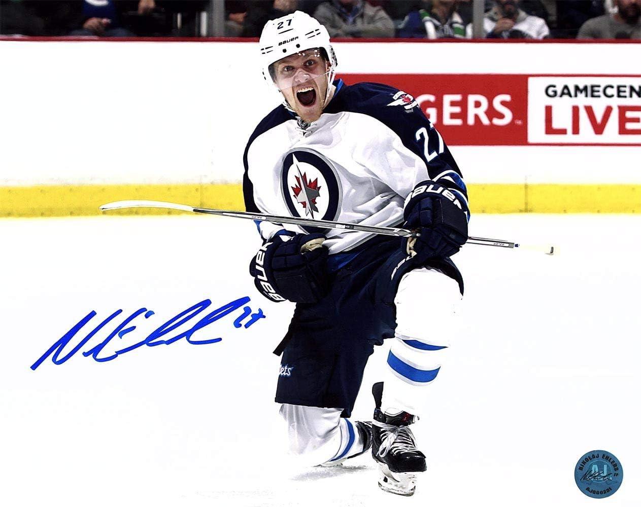 Nikolaj Ehlers Winnipeg Jets Autographed Signed Goal Celebration 11x14 Photo Signature At Amazon S Sports Collectibles Store