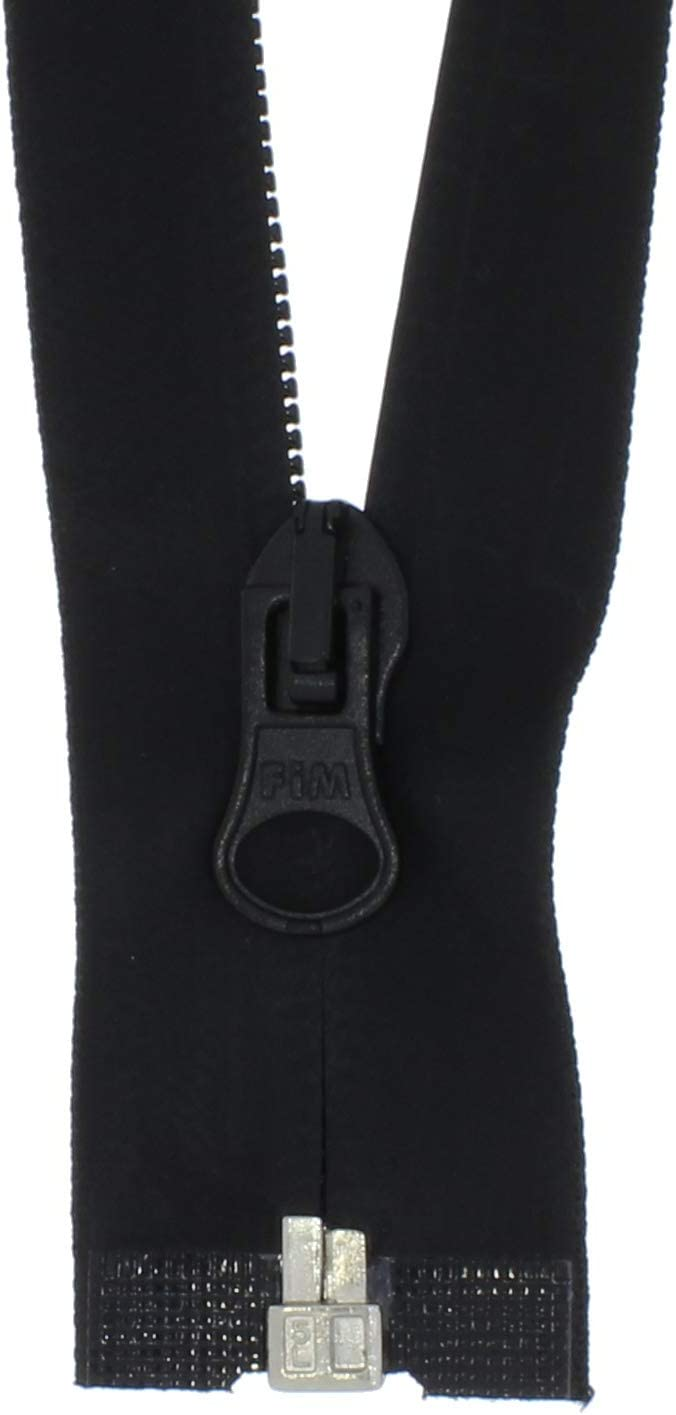 zipworld Rei/ßverschluss Wasserdicht Rei/ßverschl/üsse Kunststoff teilbar PW schwarz-matt 100cm