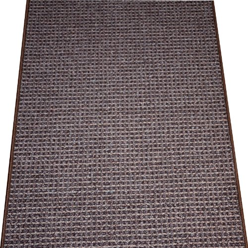 Washable Non-Skid Carpet Rug Runner - Cobbler Brown (5') by Dean Flooring Company