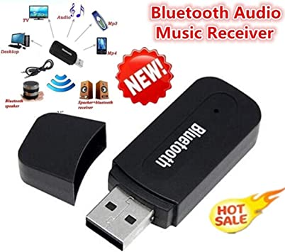 Wireless USB Bluetooth Audio Receiver Music Transmitter 3.5mm AUX Cable US